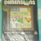 Dimensions Patchwork Birth Record Kit (7031) NEW