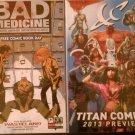Free Comic Book Day 2012 Bad Medicine & Titan Comics 2013 Preview