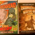 Free Comic Book Day 2012 The Incredible Rockhead & FCBD '13 Endangered Weapon B