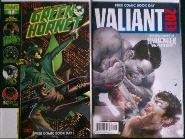 FCBD 2010 Green Hornet # 1 & FCBD 2013 Valiant Who Will Survive the Harbinger Wars Special