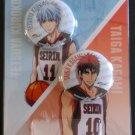 Kuroko's Basketball Can Badge set Tetsuya Kuroko & Taiga Kagami