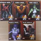 NYCC 2013 Marvel Mighty Avengers Trading Cards Set of 5