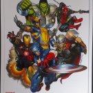 Marvel Comics Original Cover Art Print by Brandon Peterson