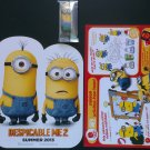 Despicable Me 2 Minion Hawaii Luau Keychain fig, Poster & Happy Meal Activity Sheet