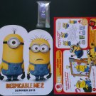 Despicable Me 2 One Eyed Evil Minion Keychain fig, Poster & Happy Meal Activity Sheet