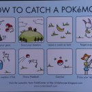 How to Catcj A Pokemon Instruction Card