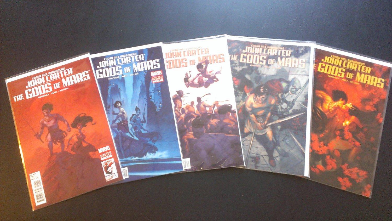 John Carter: The Gods of Mars Limited Series Complete Set # 1 - 5 (Marvel Comics)