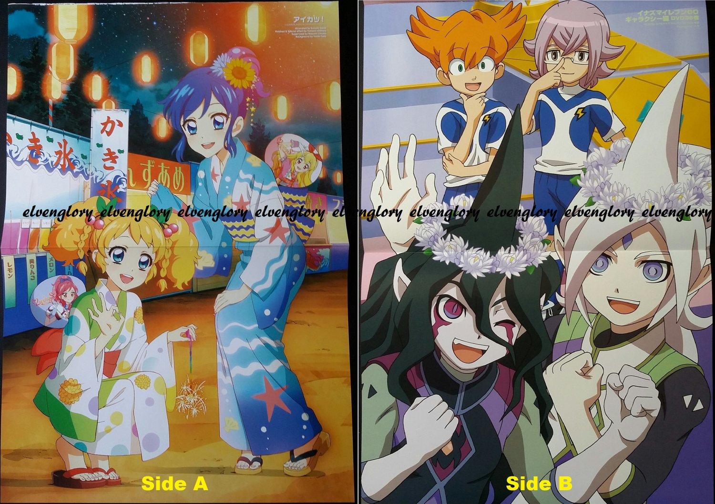 Aikatsu!/ Inazuma Eleven Go! Galaxy Double-sided Poster / Pin-up