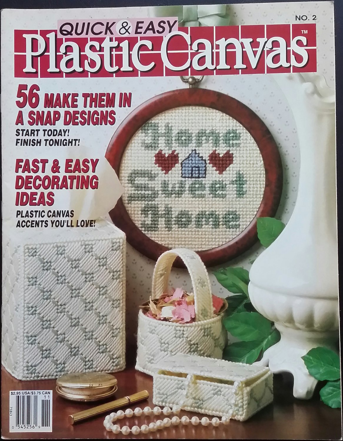 Quick & Easy Plastic Canvas No. 02 Magazine (Oct / Nov 1989)