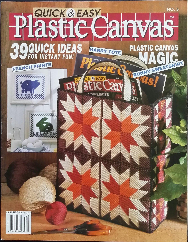 Quick & Easy Plastic Canvas No. 03 Magazine (Dec / Jan 1990)