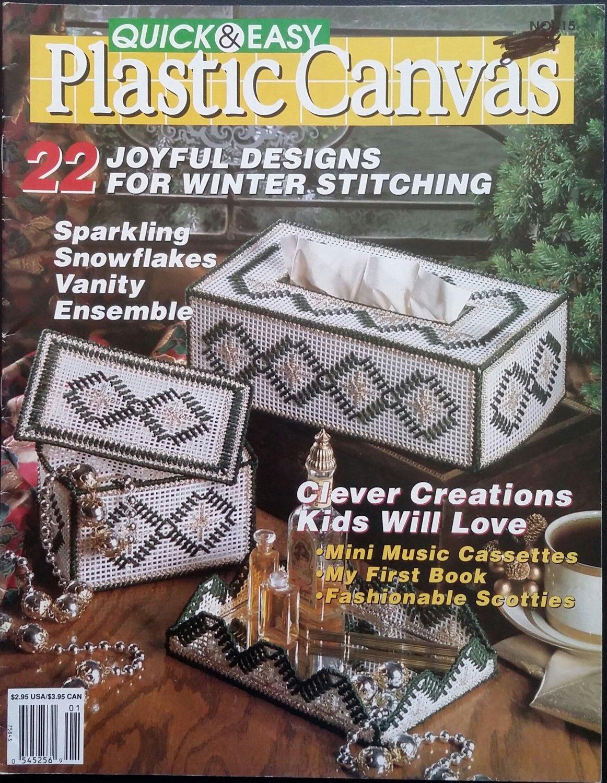 Quick & Easy Plastic Canvas No. 15 Magazine (Dec / Jan 1992)