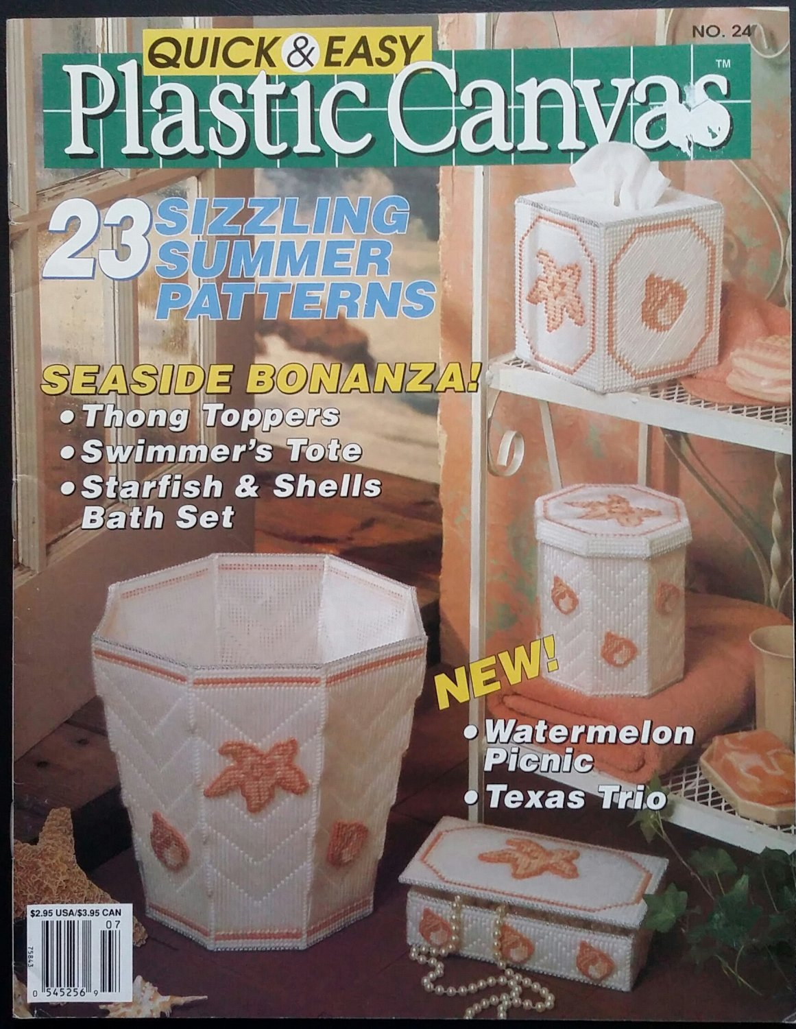 Quick & Easy Plastic Canvas No. 24 Magazine (Jun / Jul 1993)