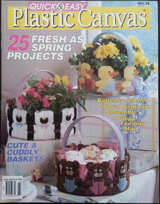 Quick & Easy Plastic Canvas No. 28 Magazine (Feb / Mar 1994)