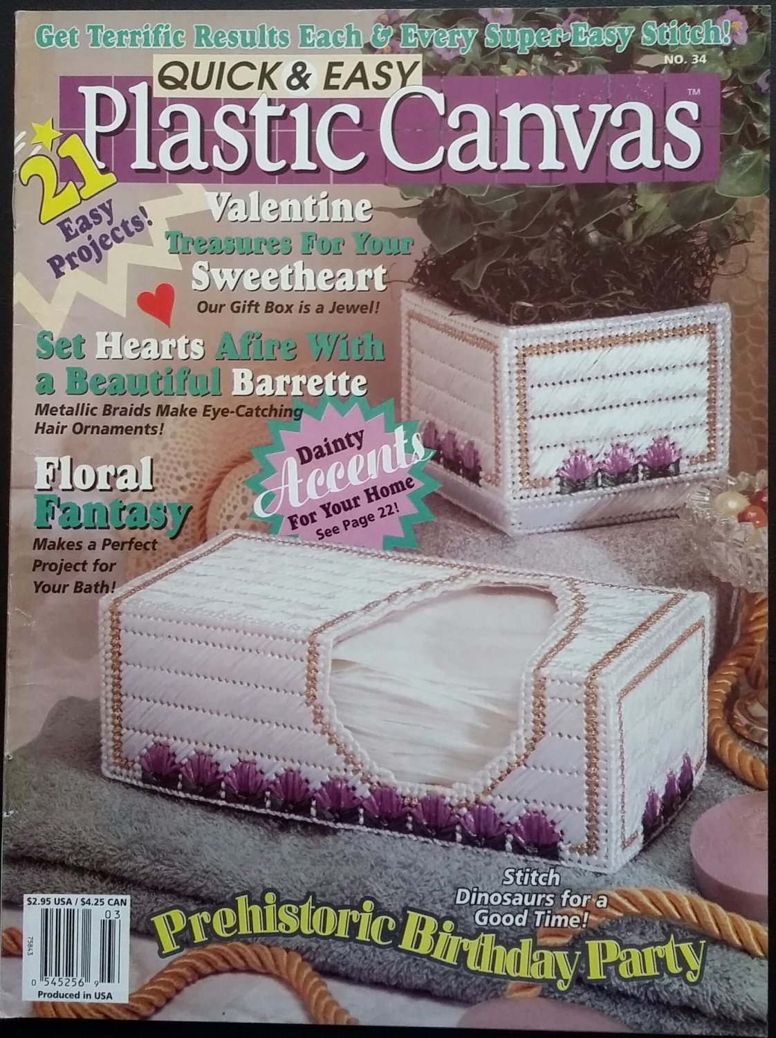 Quick & Easy Plastic Canvas No. 34 Magazine (Feb / Mar 1995)