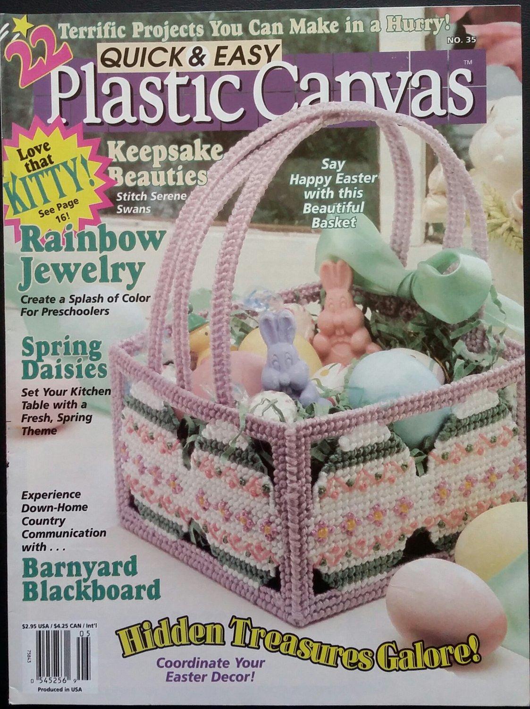 Quick & Easy Plastic Canvas No. 35 Magazine (Apr / May 1995)