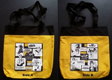 Viz Media 40th Weekly Jump Yellow & Black Tote Bag (Naruto, Bleach)