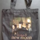 The Twilight Saga New Moon Bella, Jacob & Edward Black Canvas Tote Bag