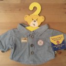 Build a Bear - Bear Builder Denim Shirt NWT & Hanger