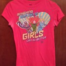 Marvel Comics Girls Can Do Better Girls Fuchsia T-Shirt Medium (7/9)