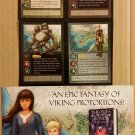 NYCC 2014 Thrones & Bones Frostborn by Lou Andres 4 Character Card Set & Flyer Promo