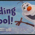 NYCC 2014 Disney Books Olaf Reading is Cool! Promo Sticker