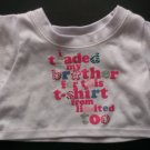 Build a Bear Girl Outfit - Limited Too White Traded Brother T-Shirt