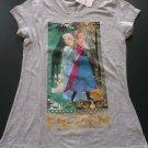 Disney's Frozen Anna & Elsa Gray T-Shirt Juniors Large NEW w/Tags