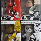 Star Wars Mighty Muggs Lot 4 Grand Moff Tarkin, Bossk, Stormtooper, Imperial Guard