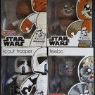 Star Wars Mighty Muggs Lot 7 Admiral Ackbar, Scout Trooper, Wicket, Teebo