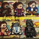 Star Wars 8-bit perler bead dangler/magnet/ornament