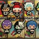 Bleach Chibi Character perler bead dangler/magnet/ornament