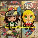 Bleach Tiger & Bunny Character perler bead magnet/ornament Set