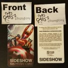 NYCC 2015 Sideshow Collectible Toys Promotional $25 Gift Card Coupon