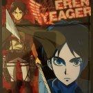 Attack on Titan Carddass Vol. 4 Clear Plate Shitajiki Bromide Eren Yeager