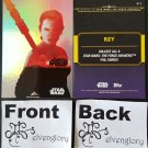 Topps 2015 Star Wars Journey to the Force Awakens Trading Card Foil F-1 Rey