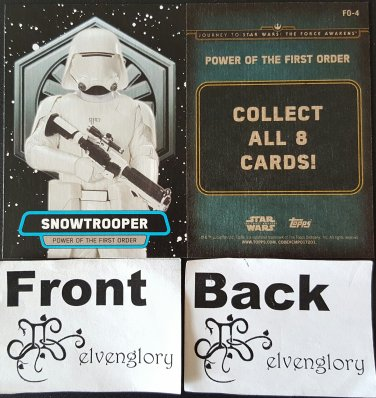 Topps 2015 Star Wars Journey to the Force Awakens Trading Card FO-4 Snowtrooper