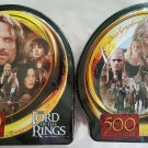 Lord of the Rings Set of Two 500 Piece Puzzles in Collector's Tins 2 NEW