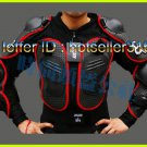 HOT FOX Black Red Gilet Jackets Protector Body Armor Motorcycle Gear Racing Armour M L XL XXL XXXL