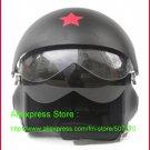 TK Chinese Military Air Force Jet Pilot Open Face Motorcycle Matt Black Helmet & Visor Free