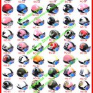 New ABS Half Bol Vespa Cycling Open Face Motorcycle Helmet & Goggles SIZE M , L , XL