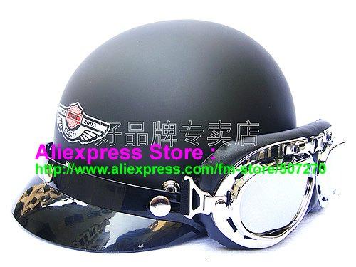 P.01 ABS Half Bol Vespa Cycling Open Face Motorcycle Matt Black Helmet Casco Casque & Goggles Free