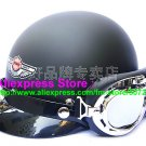 P.01 ABS Half Bol Vespa Cycling Open Face Motorcycle Matt Black Helmet Casco Casque & Goggles Free