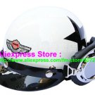 P.04 ABS Half Bol Cycling Open Face Motorcycle White # Black Star Helmet Casco Casque & Goggles