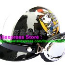 P.06 ABS Half Bol Cycling Open Face Motorcycle Black # Motor Girl Helmet Casco Casque & Goggles