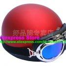 P.15 ABS Half Bol Cycling Open Face Motorcycle Matt Red Helmet Casco Casque & Goggles