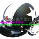 P.16 ABS Half Bol Cycling Open Face Motorcycle Matt Black # White Star Helmet Casco Casque & Goggles