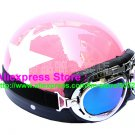 P.18 ABS Half Bol Cycling Open Face Motorcycle Pink # White Star Helmet Casco Casque & Goggles