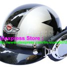 P.28 ABS Half Bol Cycling Open Face Motorcycle Silver # Black Star Helmet Casco Casque & Goggles