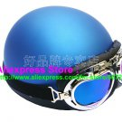 P.35 ABS Half Bol Cycling Open Face Motorcycle Matt Blue Helmet Casco Casque & Goggles