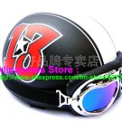 P.36 ABS Half Bol Cycling Open Face Motorcycle Matt Black # Red 13 Helmet Casco Casque & Goggles
